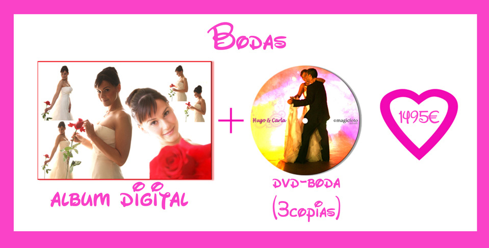 Tu reportaje de boda en foto y vídeo a un precio irresistible